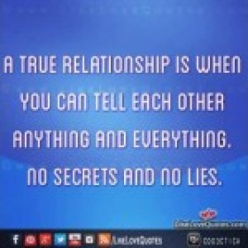 A true relationship is when you