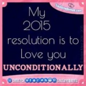 2015 Love Resolution Quotes
