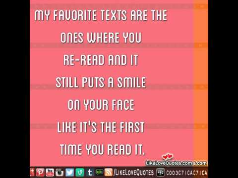 My favorite texts are the ones quotes