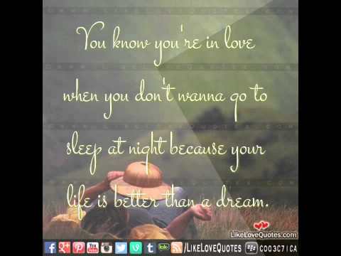 You know you're in love quotes